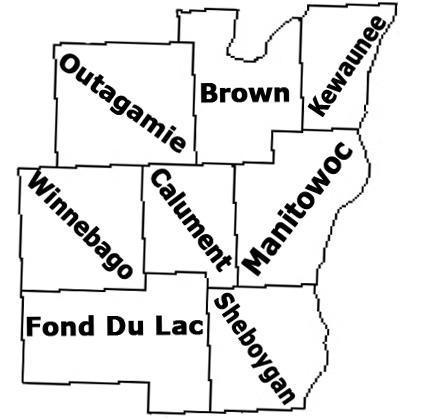 East Central Wisconsin Map