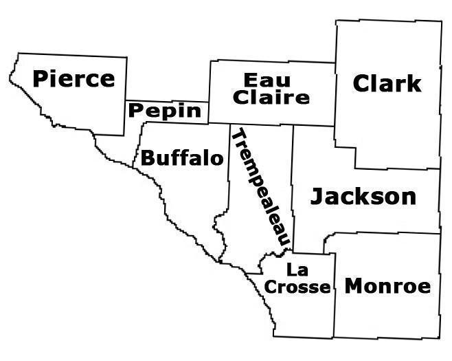 West Central Wisconsin Map